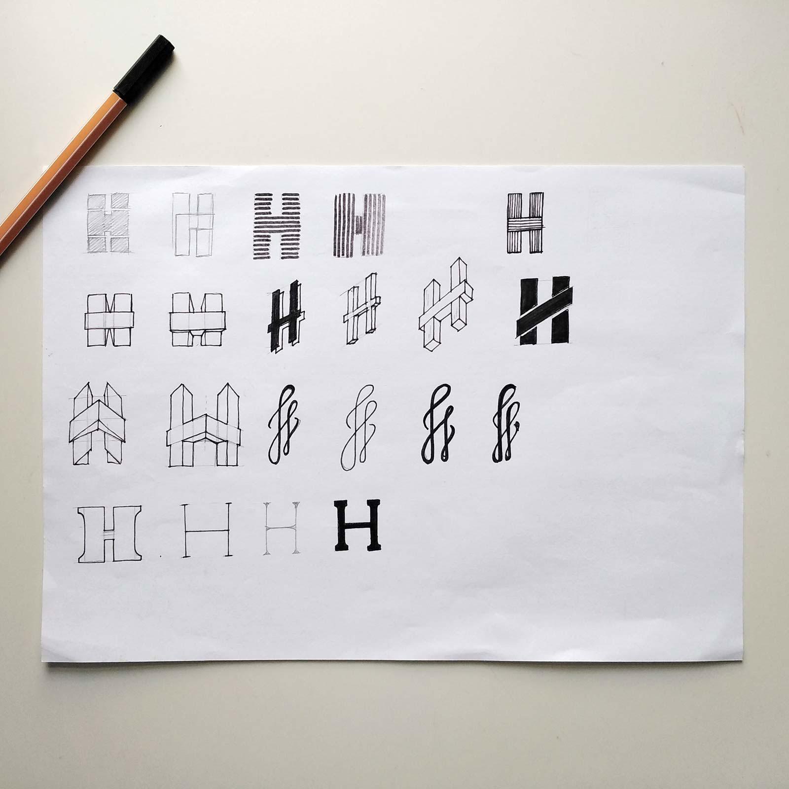 Scribbles für Logodesign von Holzbau Holzenkamp