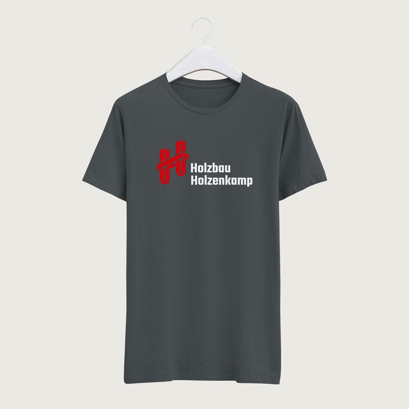 T-Shirt mit Logo von Holzbau Holzenkamp
